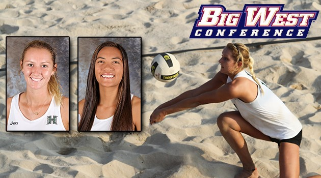 Beach Volleyball's Rooks/Schucht Earn First Big West Weekly Honors