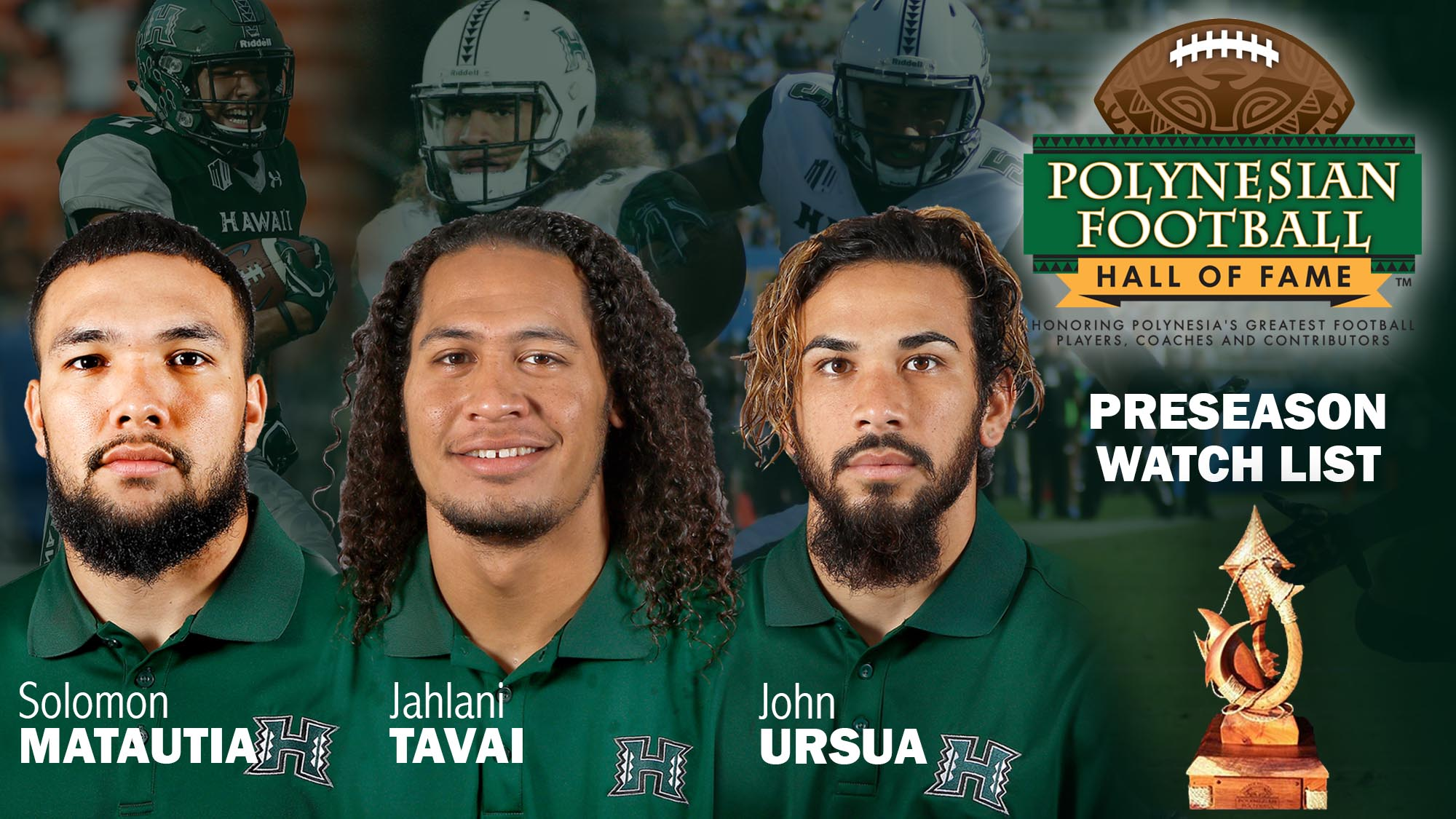 Three Warriors Among Polynesian College Football Player Of The Year