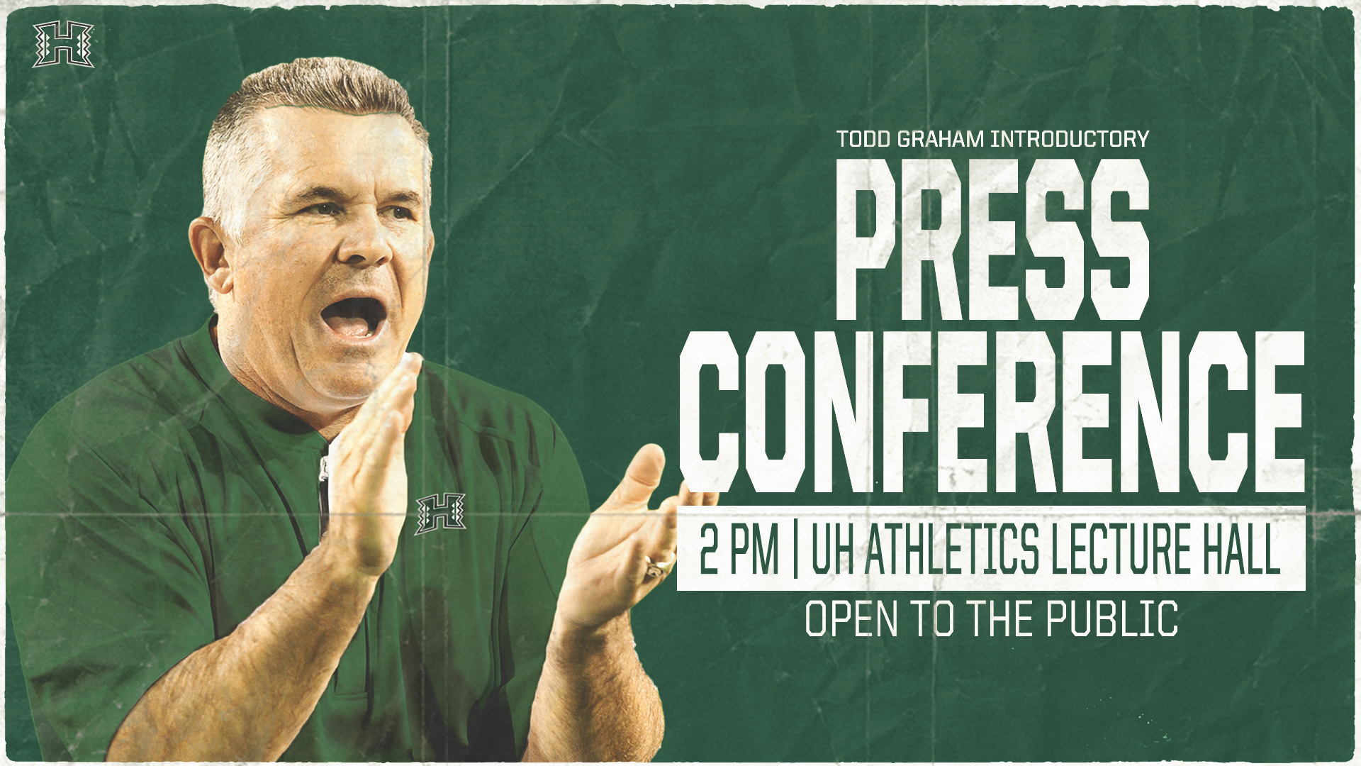 Hawaii Football Head Coach Todd Graham - Press Conference