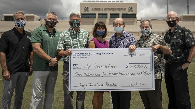$1.5 M Gift from Ching Foundation Helps Bring UH Football to Campus - University of Hawai'i at Manoa Athletics